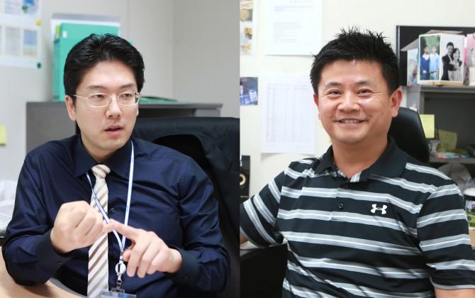 김민수 대구경북과학기술원(DGIST) 정보통신융합공학전공 교수(왼쪽)와 구재형 뇌·인지과학전공 교수 공동연구팀은 빅데이터 기술을 적용한 유전체 데이터 설계 기술을 개발했다. - DGIST 제공